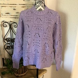 Aerie lavender chunky knit oversized sweater